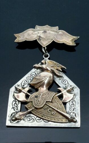 MEDAL PENDANT PIN ORDER Knight Of Pythias Supreme Lodge by S.S.Davis ca1874