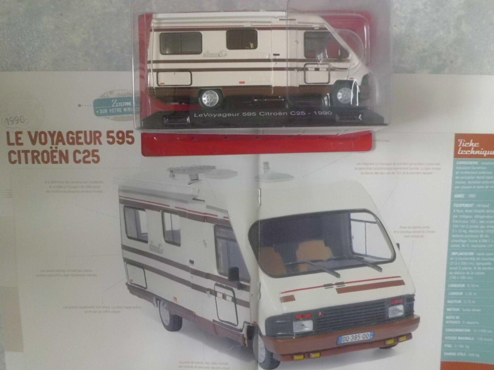 CAMPING-CARS FRANÇAIS  LE CITROËN C25 VOYAG  (1990)-(1 43éme).