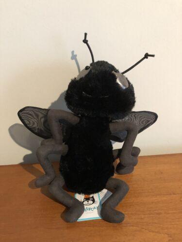 "NWT Jellycat London Farrell Fly Plush Stuffed Insect Black /& Grey 9/"" Tall"