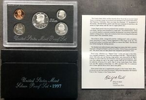 USA-1997-SILVER-Proof-Set-San-Francisco-Original-Box-PP-polierte-Platte-1c-50c