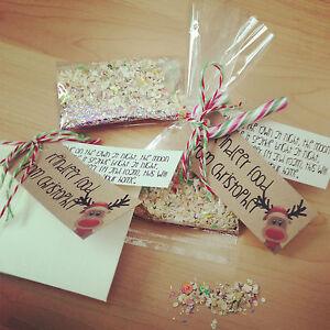 Personalised magic glitter reindeer food kids gift for Christmas eve food ideas uk