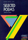 York Notes on Wilfred Owen's  Selected Poems by Benedikte Uttenthal (Paperback, 1988)