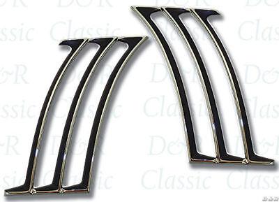 1969 69 Camaro Quarter 1//4 Panel Louvers Chrome Trim Set CHQ