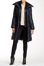 NWT! $430 Soia & Kyo Double Collar Solid Down Coat in Navy, Super Warm! XS