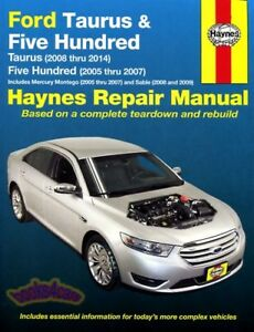 shop manual ford service repair 500 haynes five hundred book chilton rh ebay com 99 Ford Taurus Repair Manual 1999 Ford Taurus SE Problems