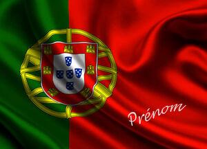 Drapeau portugais v set de table ou sous main de bureau avec