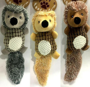 Pet-Dog-Animal-Toy-Hedgehog-w-Long-Tail-Toys-Chew-Toys-Squeaky-Plush-Toys