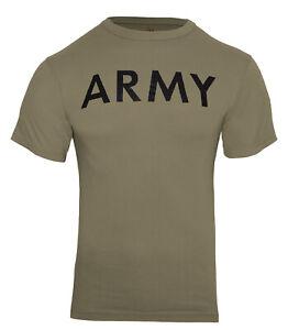 US Army Coyote Brown PT T-shirt OCP AR 670-1 Physical Training Shirt Rothco 3872
