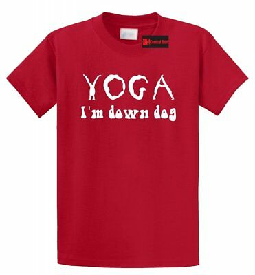 Workout Fitness Yogaholic Funny Yoga Men/'s Cotton T-Shirt