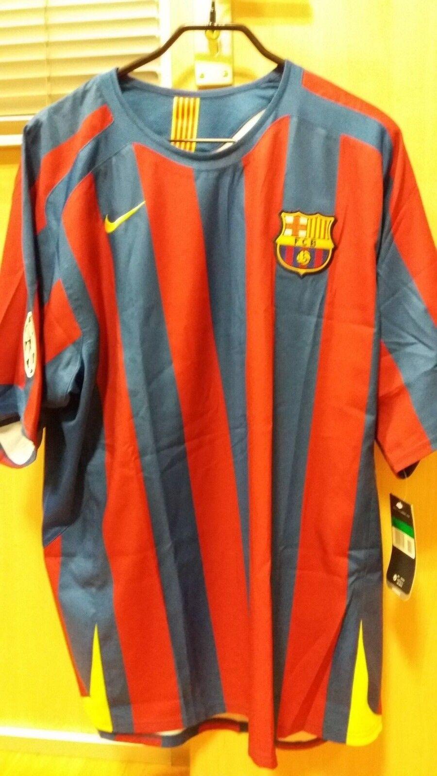 FCB BARCELONA 2006 FINAL SHIRT RONALDINHO NIKE
