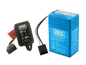 Power Wheels Lil Lightning 6V Battery and Charger - NEW, GENUINE