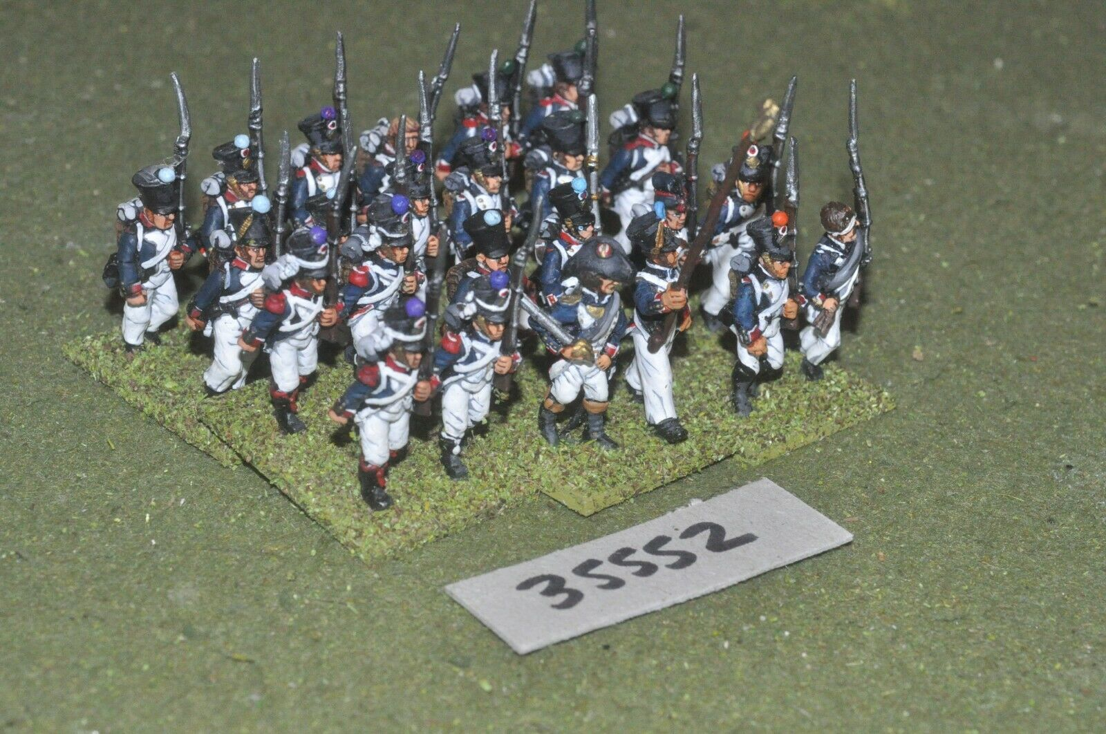 25mm napoleonic   french - regiment 24 figures - inf (35552)