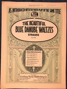 Raro El Hermoso Danubio Azul Valses De Johann Strauss Piano Partituras Ebay