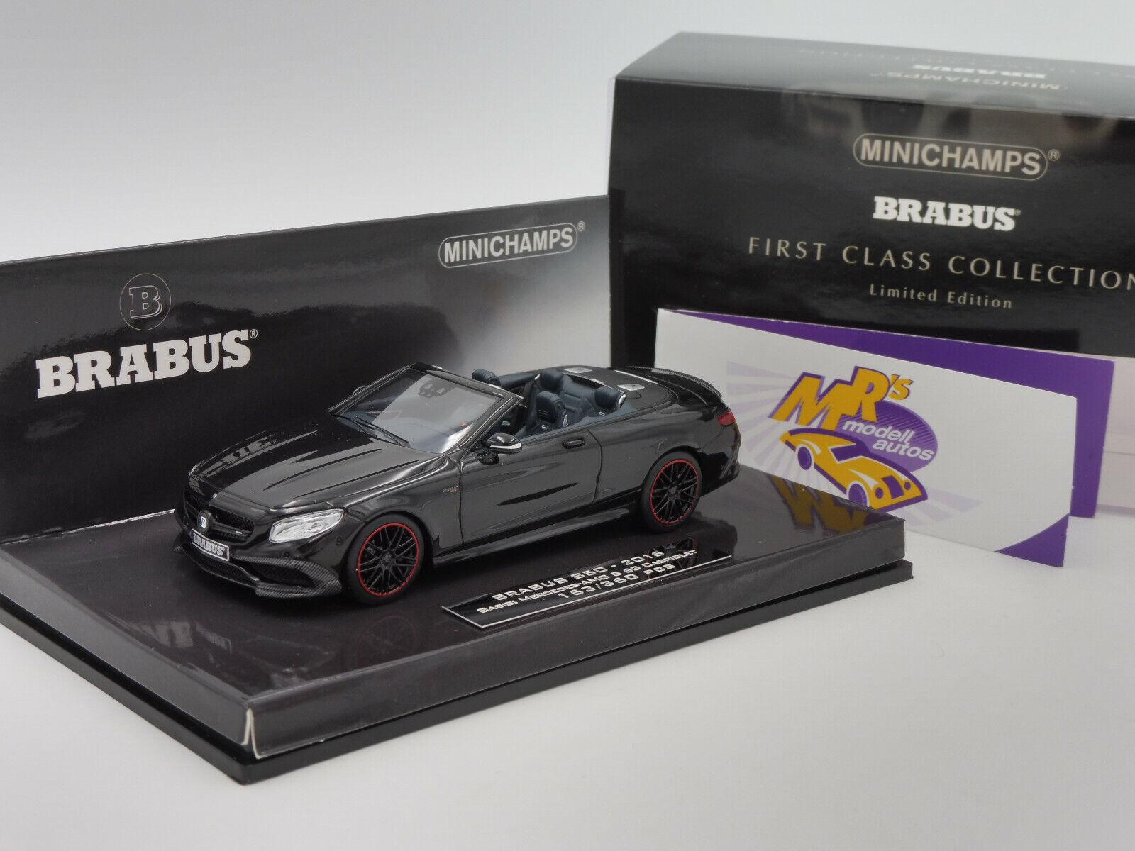 Minichamps 437034230   Mercedes Brabus 850 S 63 Cabrio AMG Bj. 2016 schwarz 1 43