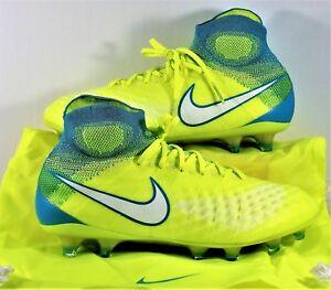 61fe39ae9867 Nike Magista Obra II FG Flyknit ACC Volt Soccer Cleats Sz 6 NEW ...