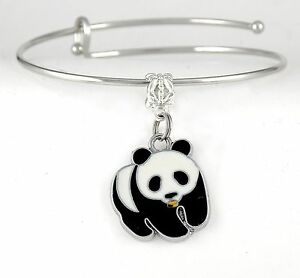 Image Is Loading Panda Charm Bracelet Bear Bangle Jewelry