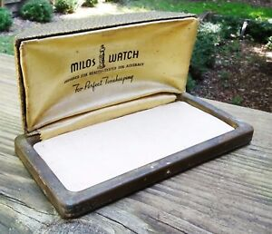 Rare Art Deco 1930s Milos Watch Case Designed For Beauty Tested For Accuracy Art Deco Jewelry Boxes & Organizers
