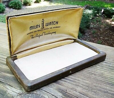 Jewelry Boxes & Organizers Designed For Beauty Tested For Accuracy Rare Art Deco 1930s Milos Watch Case