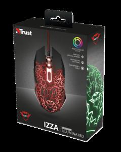 Trust Gaming 21683 GXT 105 Mouse da Gioco 6 Pulsanti ILLUMINATO LED AMBIDESTRO