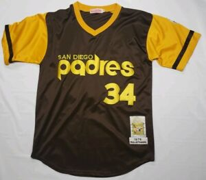 info for f9a4c 16107 Details about San Diego Padres Rollie Fingers #34 Jersey Size:48 By  Mitchell & Ness EUC MINT