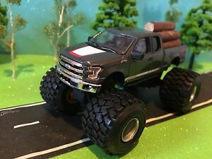 Lifted 2015 F150 >> Details About 1 64 Custom G 5 Lift 2015 Ford F 150 Large Mud Pulling Rubber Tires Logs