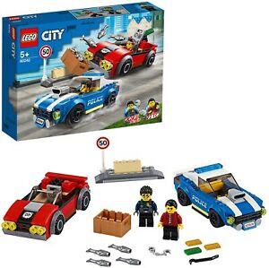 LEGO City Arresto su Strada della Polizia con 2 Macchinine, Set Inseguimento...