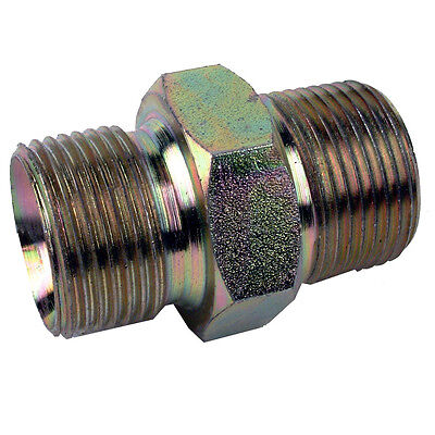 """New 1//8/"""" Male X 1//8/"""" Male Pressure Washer Hose Outlet Adaptor For Karcher etc"""