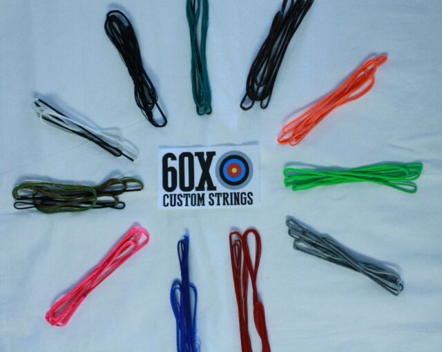 "60X Custom Strings 56/"" Fast Flight Tan Recurve Bowstrings Bow String"
