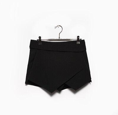 Sexy Womens Wrap Mini Skort Skirt Short Culottes Irregular Laminated Flanging