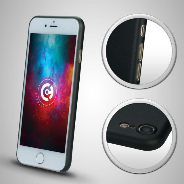 ULTRA SLIM Hardcase für iPhone 7 Case Hülle Schutzhülle TPU Schwarz Dünn Thin