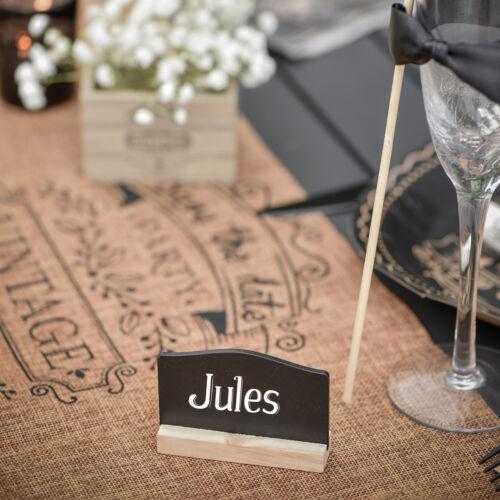 S5133 Kreidetafel beschreibbar Hochzeit Tischkarte 4 x Tafel zum Stellen