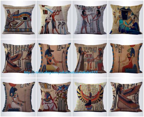10pcs cushion covers Ancient Egyptian outdoor throw pillow covers