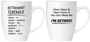 2er Set Lustige Spruche Kaffee Becher Tassen Ruhestands Plan Rente