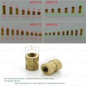 M3 / M4 Brass Knurled Nuts Insert Embedded Nuts