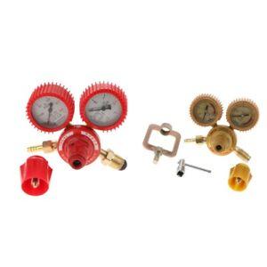 Propane-Acetylene-Soudage-Au-Gaz-Soudeur-laiton-Regulateur-pression-guages