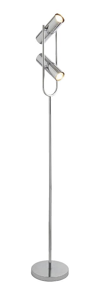 Lampadaire floorlampe Lampe Luminaire h:150cm Métal Chrome Chrome Métal DEL compatible NEUF 33dbcd
