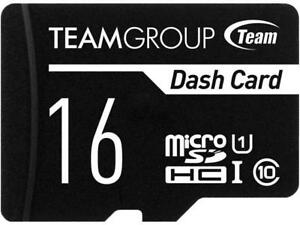 Team 16GB Dash Card microSDHC UHS-I/U1 Class 10 Memory Card with Adapter, Speed