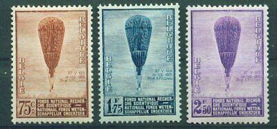 Effizient Belgien, 1932 Untersuchungen 344/46 **, (9665)