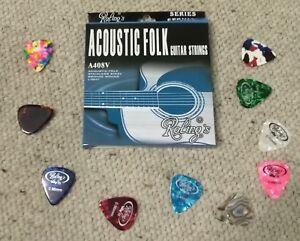Muta-corde-chitarra-Acustica-10-Plettri-spedizione-rapida-da-ITALIA-posta1