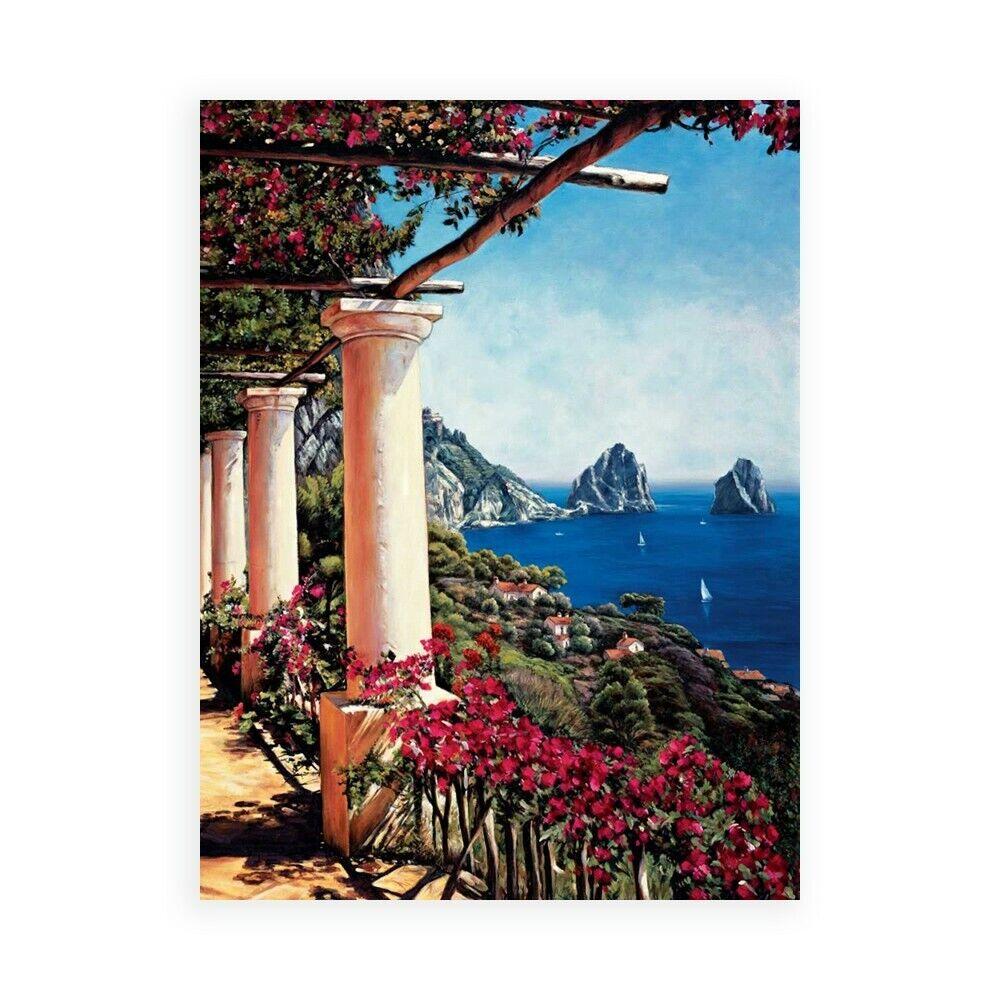 Stampa su Tela su Carta Poster o Quadro Wright Elizabeth Pergola in Capri