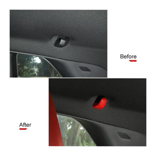 Red Pair Rear Hook Cover Bezel Hanger Decor Trim for Doage Challenger 2015-2019