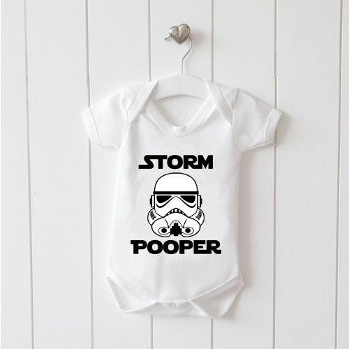 Storm Pooper Baby Vest Baby Grow 100/% Cotton Boys Girls Bodys
