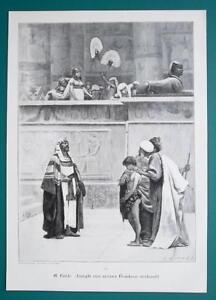 BIBLE-Joseph-Sold-to-Slavery-VICTORIAN-Era-Engraving-Print