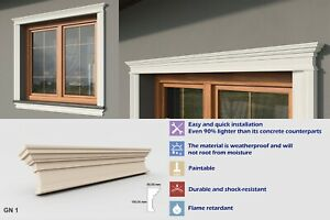 Details about Exterior Coving Cornice Outside Above the Window Mouldings  GN1 High Quality
