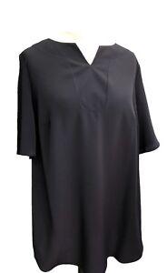Plus-size-Tunic-kaftan-Tops-Dark-Navy-UK-curves-Sizes-18-20-22-24-26-28-NEW-lady