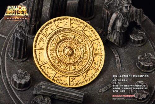 Saint Seiya 30th ANNIVERSARY Commemorative Gold Coin 12 palace Limited Cos Gfit