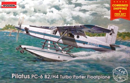 PILATUS PC-6 B2/H4 TURBO PORTER, FLOATPLANE US airplane 1/48 scale RODEN 445