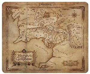 Mouse Pad Flexible Lord of the Rings Rohan & Gondor Map 9 1/8x7 7/8in ABYstyle