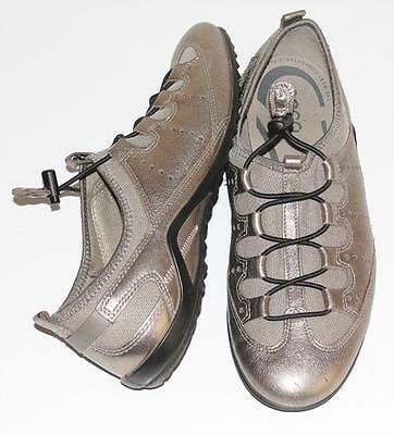 ECCO~METALLIC~LEATHER *BALLET-STYLE* COMFORT~TRAVEL~STRAPPY SNEAKERS SHOES~40