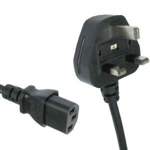 1.5m Long IEC Lead Power Cable PC Monitor TV C13 Cord 1 Metre 3 Pin UK Plug